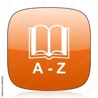 """dictionary orange square web design glossy icon"" Imagens ..."