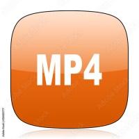 """""""mp4 orange square web design glossy icon"""" Stock photo and ..."""