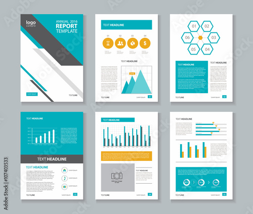 company profile ,annual report , brochure , flyer, layout template - company report template
