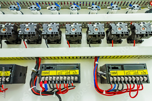 Electrical control panel in distribution fuse box\