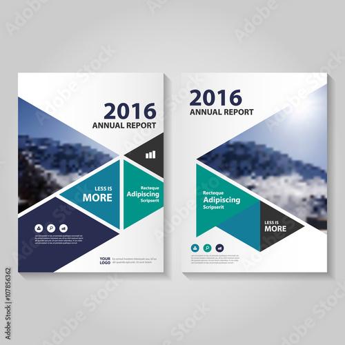 Blue green purple triangle business proposal Leaflet Brochure Flyer