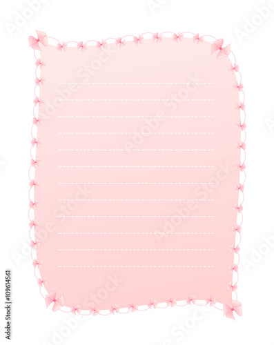 Blank Gradient Sweet Pink Vertical Lined Letter Paper Decorated with - lined letter paper
