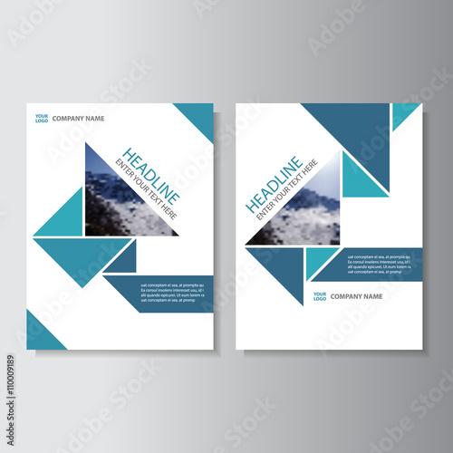 Blue Business proposal Vector Leaflet Brochure Flyer template design