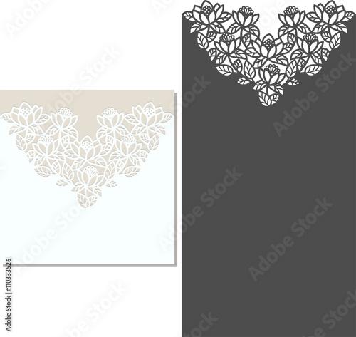 Laser Cut Invitation Card Laser-cut pattern for invitation wedding