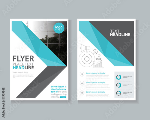 page brochure, flyer ,report Layout design template, and cover