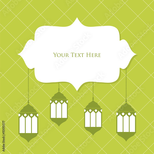 eid mubarak template design with green color background\