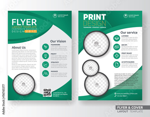 Multipurpose corporate business flyer layout template design