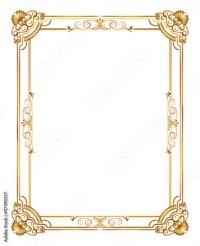 """gold decorative horizontal floral elements, corners ..."