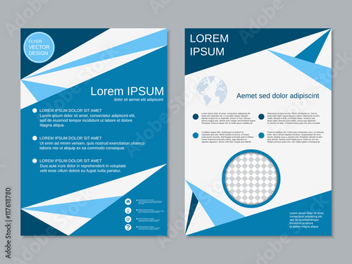 Professional two-sided booklet vector design template\