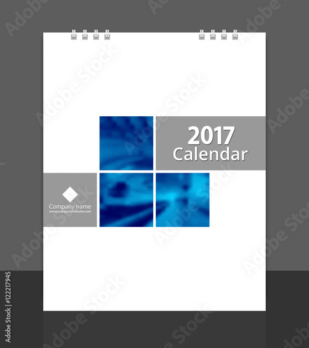Desk calendar 2017 cover design layout template vector for corporate - calendar sample design