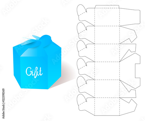 Box Gift Paper box Blueprint Template Illustration of Gift craft