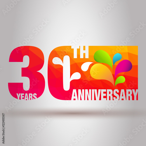 Anniversary Card Anniversary Background 30th Anniversary Template