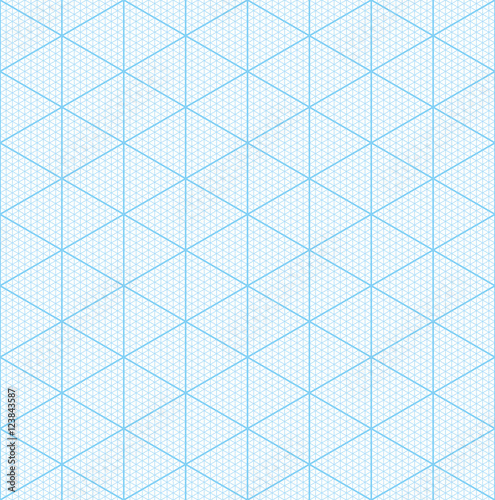 Isometric graph paper for 3D design\