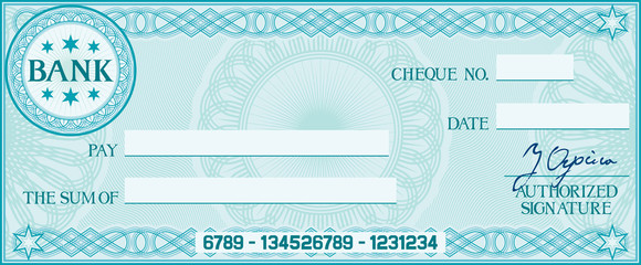 blank check (business cheque design) - Buy this stock vector and