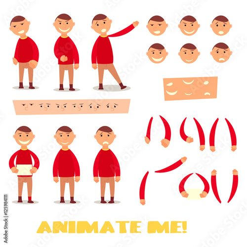 Pupil set character for your scenes Parts of body template for