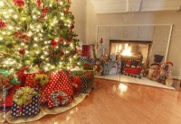 """Christmas interior design. Living room with Christmas"