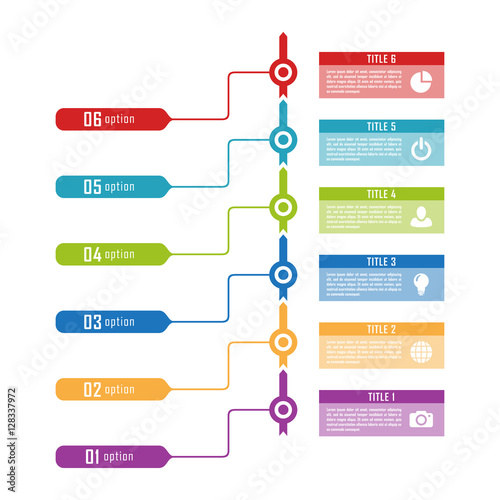 Infographic timeline template can be used for chart, diagram, web - history timeline template