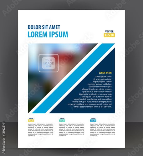 Flyer brochure, cover layout design print template, pamphlet vector - pamphlet layout template
