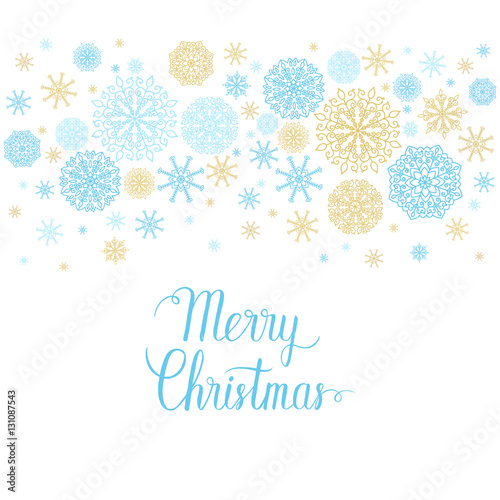 Merry Christmas greeting card Vector winter holidays backgrounds
