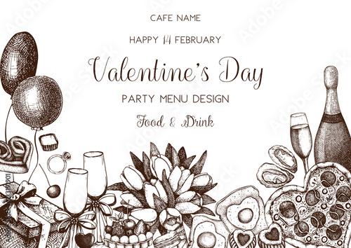 Valentine\u0027s day greeting card or invitation design Hand drawn