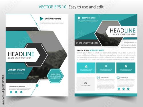 Blue Hexagon Vector business proposal Leaflet Brochure Flyer - pricing brochure template