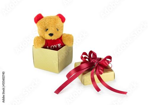 Quotteddy Bear In The Gift Boxquot Immagini E Fotografie Royalty