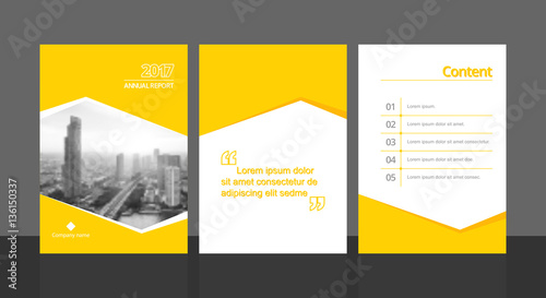 Cover design for annual report or business catalog, magazine, flyer