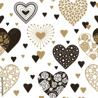 """""""Cute hearts seamless background. Valentine's day ornament ..."""