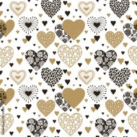 """Cute hearts seamless background. Valentine's day ornament ..."