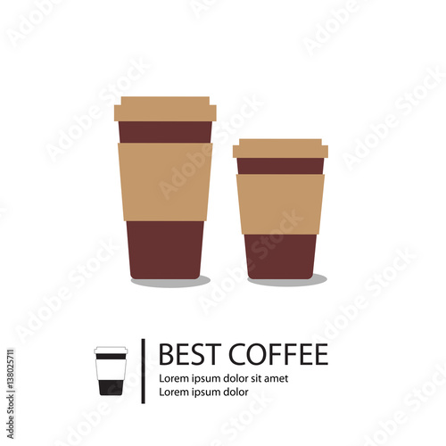 Coffee on paper cups Paper coffee cup templates\