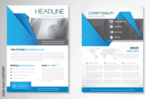Vector Brochure Flyer design Layout template, size A4, Cover annual