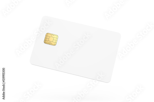 Blank credit card template\