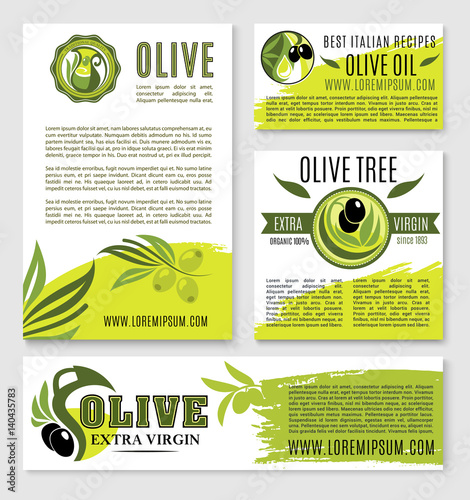 Olive oil vector product poster templates\ - product poster