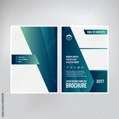 Cover design for catalogue, brochure, booklet Graphic template for