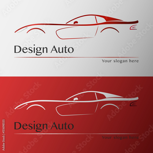Design car with business card template \