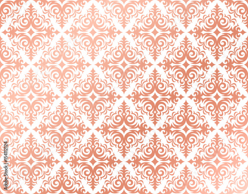 Colorful Animal Print Wallpaper Quot Rose Gold Background In A Damask Pattern Design Pink And