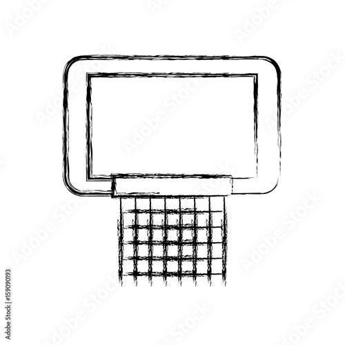 sketch draw basketball hoop cartoon vector graphic design\