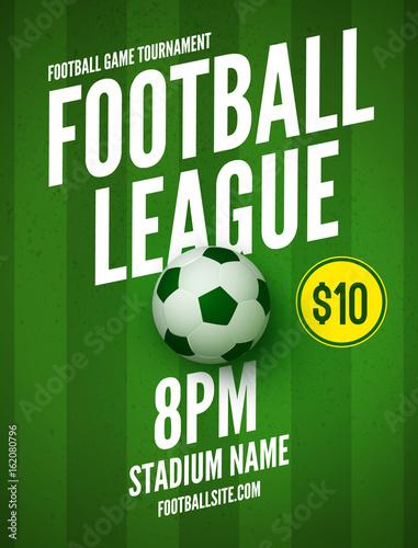 Soccer league flyer design template Soccer poster invitation