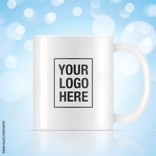 White vector coffee mug template isolated on a background Vector
