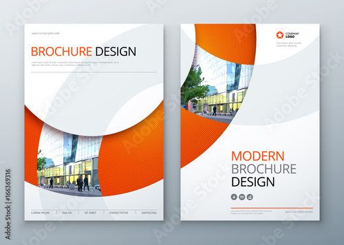 Brochure template layout design Corporate business annual report - product brochure template