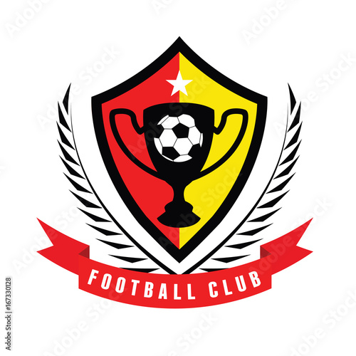 Football logo, Soccer logo, Sports logo design template\