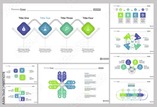 Eight Marketing Charts Slide Templates Set\