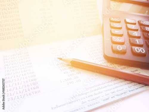 Business, finance, savings or loan background concept ; Pen