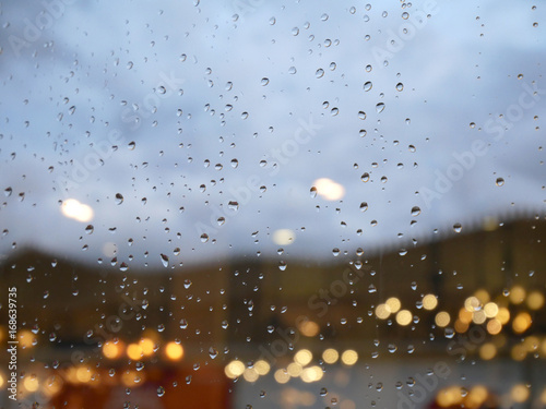 Quotrain Drops On The Glass Floorquot Stock Photo And Royalty