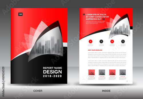 Annual report brochure flyer template, black cover design, business - advertisement flyer template