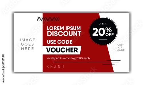 Meal Voucher template, coupon design, ticket, banner Modern