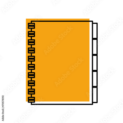 address book contacts business office supply vector illustration