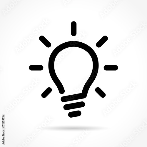"Vectores Libres ""light Bulb Icon On White Background"" Imágenes De Archivo"