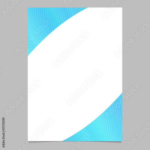 Abstract color gradient curved grid brochure, flyer background