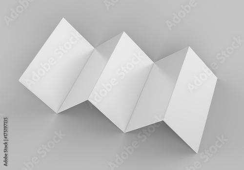 Accordion fold brochure, ten page leaflet, concertina fold blank - accordion fold brochure